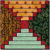 Log Cabin Variation free quilt pattern