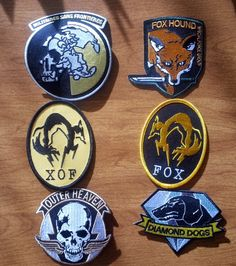 Metal Gear Solid Iron Patches  XOF Diamond Dogs by ZanzibarLand