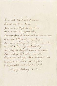 Virginia Poe's Sad Acrostic Valentine for Edgar Allan