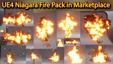 UE4 Niagara Fire Pack 01 in Marketplace Packing, Fire, Ceiling Lights, 3d, Decor, Bag Packaging, Decoration, Ceiling Lamps, Dekoration