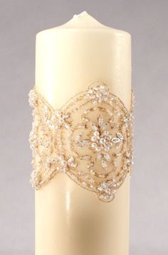 The Luxe Collection Unity Candle (White or Ivory) from Wedding Favors Unlimited