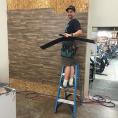 Dan the man finishing the final touches on the new service center in our Kearny Mesa store #bike #fitness #fun #temecula #pacificbeach
