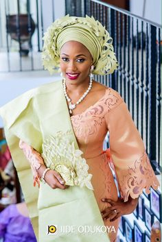 Bride Kariba, Komole by Deola Sagoe with matching Laser Cut Gele, Photo by Jide Odukoya Photography