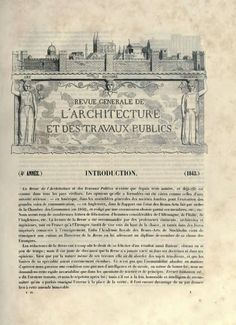 """Résultat de recherche d'images pour """"la revue generale d'architecture et des travaux publics"""""""