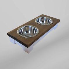 Piccolo cane alzato ciotola doppia alimentazione tabella