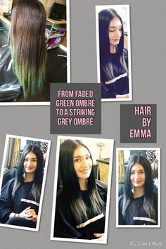 From a faded green home colour to the grey ombré