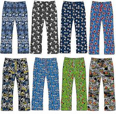 Mens Pyjamas Lounge Bottoms Pants Trousers BATMAN SUPERMAN MUPPETS MICKEY MOUSE