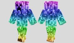 Rainbow Creeper Skin para Minecraft