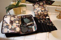 makeup case/brush roll