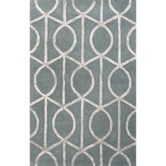 Jaipur Rugs Modern Geometric Pattern Blue/Gray Wool and Art Silk Area Rug CT35 (Rectangle)