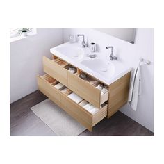 Marvelous GODMORGON / EDEBOVIKEN Sink Cabinet With 4 Drawers, White Stained Oak White  Stained Oak Effect White Stained Oak Effect 47
