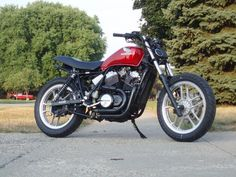 Note to self. Shoot new bike from a low angle. Awesome. | Updated; 83 Honda VT500 cafe racer/street tracker