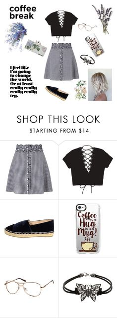 """Coffeeholic"" by musicajla ❤ liked on Polyvore featuring Miss Selfridge, Chanel, Casetify, love, casualoutfit and coffeebreak"