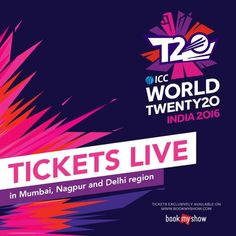 Mumbai, Delhi & Nagpur are ready to be a part of the #WT20 mayhem#T20withBMS Click on the image to book.
