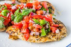 This Grilled Chicken Bruschetta is a Clean Eating Show-Stopper! - Clean Food Crush