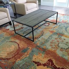 This #tibetan rug is just a #masterpiece! #bestseller #interiordesign #homedecor #livingroom #color #rust #seagreen #modern #contemporary #love #igersjax #shoplocal