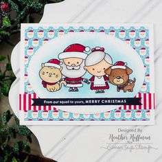Simon Says Clear Stamps CHRISTMAS SQUAD sss101713 zoom image