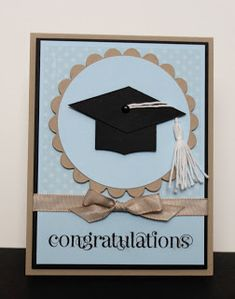 Julie B's Stampin' Space: Even More Graduations! Graduation Cards Handmade, Graduation Diy, Graduation Scrapbook, Karten Diy, Making Greeting Cards, Stamping Up Cards, Kids Cards, Baby Cards, Creative Cards