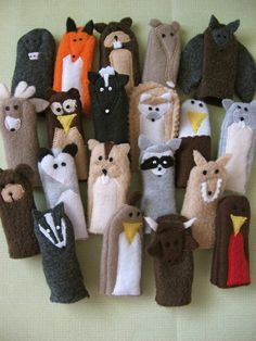 Woodland Animals Finger Putters