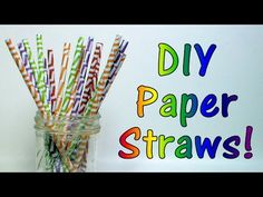 Paper straws are so cute but they can be a bit expensive for a throwaway item. Learn how to make your own for pennies using supplies you already have. Diy Arts And Crafts, Crafts For Kids, Paper Crafts, Party Props, Diy Party, Party Ideas, The Frugal Crafter, Paper Shaper, Second Birthday Ideas