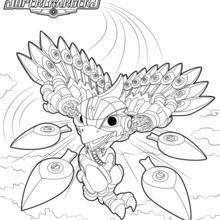 skylanders coloring pages thumpback stormblade coloring page