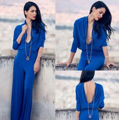 blue, jumpsuit, and clothes image