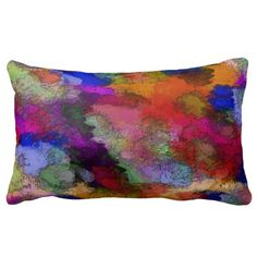 Shop Multi Colored Lumbar Pillow created by MannzPillows. Lumbar Pillow, Throw Pillows, Custom Pillows, Knitted Fabric, Tie Dye Skirt, Your Design, Home Accessories, Cushions, Knitting