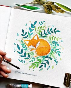 Items similar to Watercolor art print - Sleeping fox.-Items similar to Watercolor art print – Sleeping fox. on Etsy Wat… Items similar to Watercolor art print – Sleeping fox. on Etsy Watercolor art print Sleeping fox. Watercolor Drawing, Watercolor Illustration, Painting & Drawing, Watercolor Paintings, Watercolours, Animal Watercolour, Fox Painting, Watercolor Projects, Art Sketches