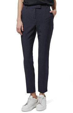 Topshop Pinstripe Cigarette Trousers available at #Nordstrom