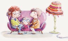 Family, illustration by Ania Simeone