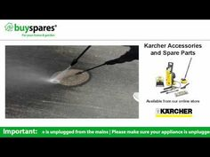 How to use a Dirt Blaster on a Karcher pressure washer, BuySpares 'how to videos'.