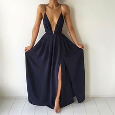 Beautiful Prom Dress, black prom dresses split prom dress chiffon prom dress long prom dresses 2018 formal gown slit evening gowns for teens Meet Dresses Split Prom Dresses, Navy Blue Prom Dresses, Prom Dresses 2016, Blue Evening Dresses, Prom Dresses For Teens, Backless Prom Dresses, Ball Dresses, Evening Gowns, Evening Party