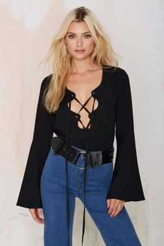 Nasty Gal Harper Lace Up Top | Shop Clothes at Nasty Gal!