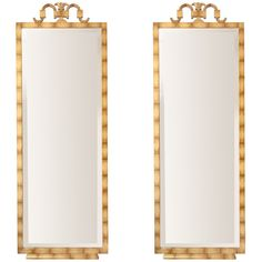 Pair of Swedish Art Deco gilt-wood mirrors Axel Einar Hjorth | From a unique collection of antique and modern wall mirrors at http://www.1stdibs.com/furniture/mirrors/wall-mirrors/