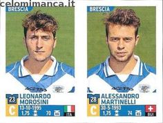 Calciatori 2015-2016: Fronte Figurina n. 623 Leonardo Morosini - Alessandro Martinelli