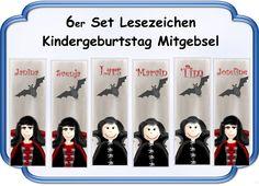 Lesezeichen+Vampir+Vampirin+Kindergeburtstag+von+♪+♫+♪+++Kindergeburtstag+Store++♪+♫+♪+auf+DaWanda.com