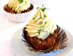 Meatloaf Cupcake with Creamy Potato Frosting. Noblepig.com