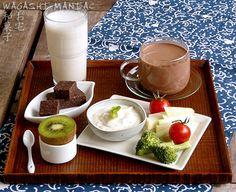 Vegan Milk Breakfast: Almond Milk + Almond Milk Coco + Herbed Cream Cheese + Chocolate + Vegan nut cheese with miso + Raw Vegan Chocolate Tart w/ Cashew custard +