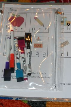Dry Erase Activity Pages