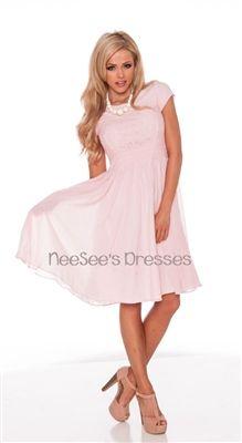 Light Pink Modest Dress