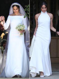 Meghan Markle. Both of her dresses fit her style so well. She looks resplendent <3
