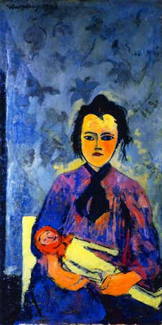 The Athenaeum - LIttle Girl with a Doll (Maurice de Vlaminck - No dates listed)