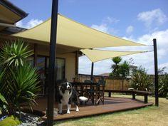 Toile et voile d\'ombrage pour une terrasse   Sonnensegel ...
