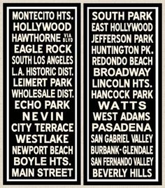 Los Angele Trolley signs