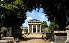 You can visit the Catacombs of London.  Photo of Kensal Green Cemetery