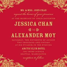 Woodcut Wonder:Dijon Chinese Wedding Invitation, Unique Wedding Invitations, Wedding Stationary, Wedding Invitation Cards, Wedding Cards, Invitation Ideas, Invites, Asian Inspired Wedding, Purple And Green Wedding