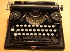 1920 Underwood Standard Portable Typewriter Works by VintageSupplyCo, $189.99.. This one is absolutely beautiful!! Ah, a girl can dream...