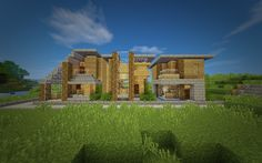 Post with 3307 views. Minecraft - Series of Houses Modern Minecraft Houses, Minecraft Houses For Girls, Minecraft Houses Blueprints, House Blueprints, Minecraft Buildings, Minecraft Ideas, Sandbox, Video Games, Building Ideas