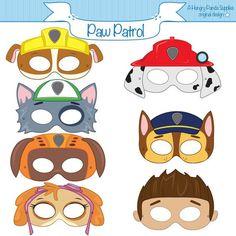 21 Paw Patrol Birthday Party Ideas - Paw Patrol Printable Masks