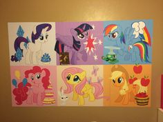 My Little Pony Wall Mural For Little Girls Room. It Turned Out Cute And Good Part 34